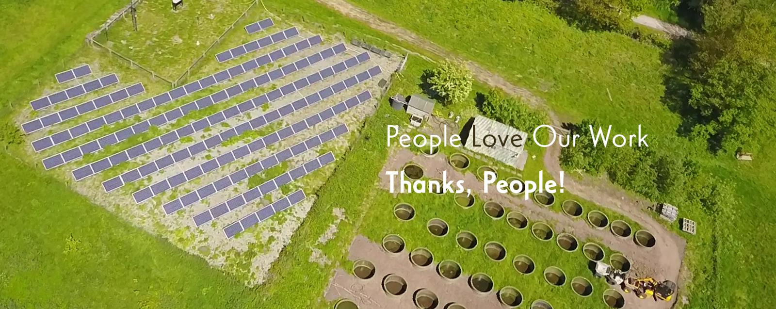 Above Ness Gardens' Solar Array